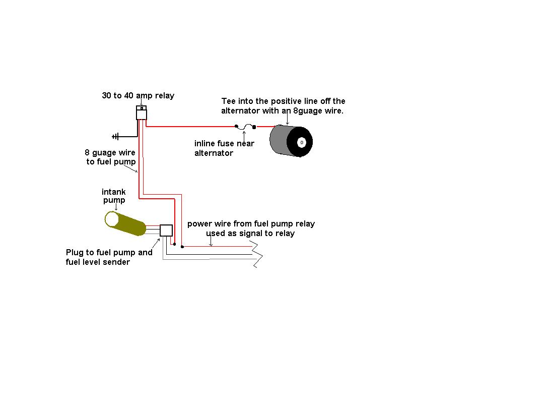 Wiring Schematic To Increase The Voltage Fuel Pump Dodge Diagram Click Image For Larger Version Name Fuelpump Rewire