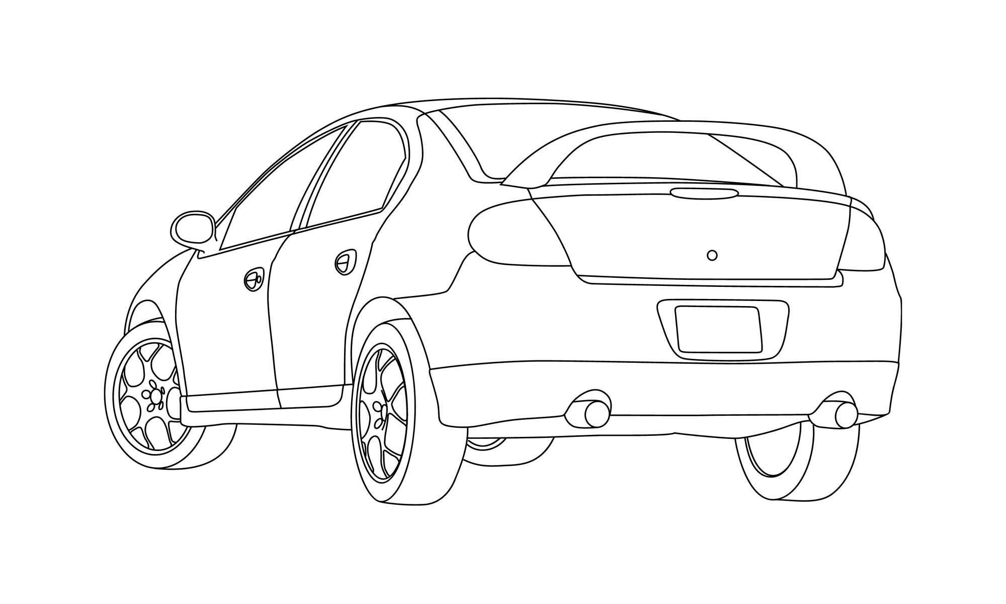srt 4 line drawing dodge srt forum