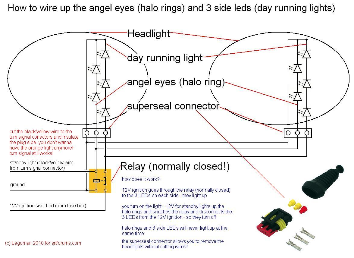 led halo headlight wiring diagram schematic diagrams rh ogmconsulting co