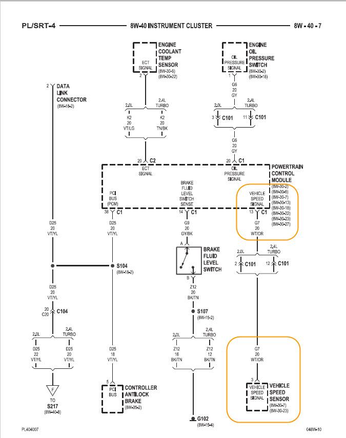 speedometer not working dodge srt forum rh srtforums com Schematic Circuit Diagram Basic Electrical Schematic Diagrams